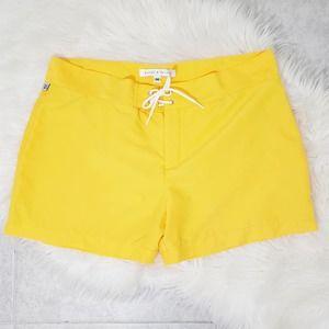 Parke & Ronen Swim Trunks Yellow Lace Up 36 Large
